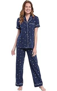 6661328794 PajamaGram Printed Knit Bathrobe Womens - Womens Long Robes at ...