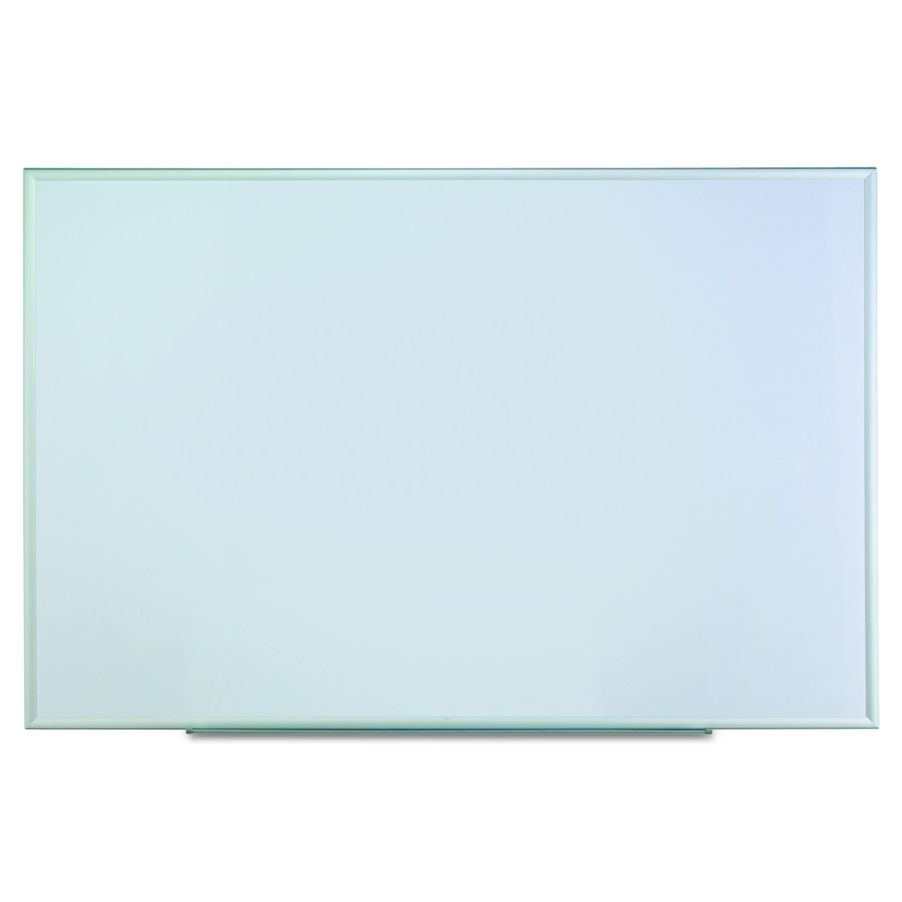 Universal Dry Erase Marker Board, Melamine, 72 x 48, Silver Aluminum Frame
