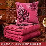 HOMEE Winter Thick Duvet Pillow Cushion with Two Cars on the Office of the Sofa Pillows, Air Conditioning by Small Blankets,Mary,4545