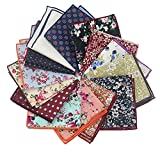 Mantieqingway Men's Cotton Floral Handkerchief (Mix-2)