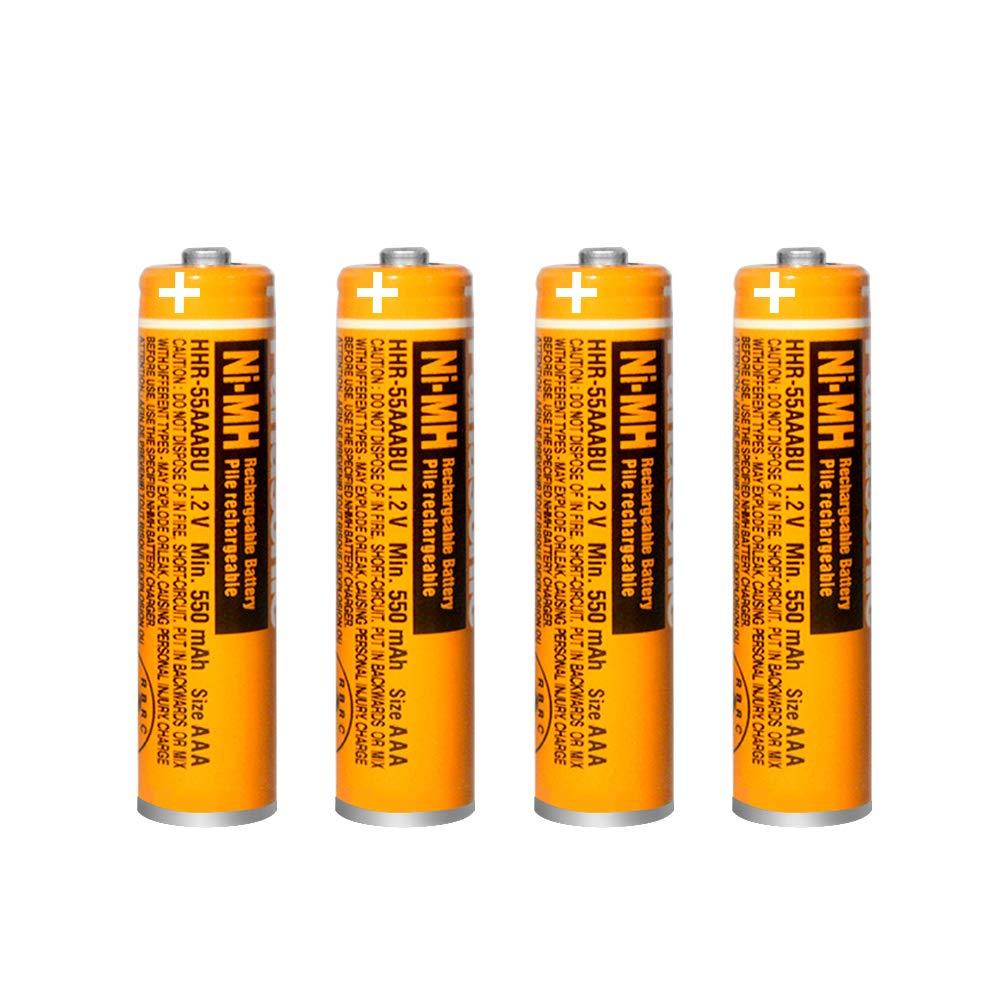 4 Baterias Hhr-55aaabu Ni-mh Panasonic 1.2v 550mah Aaa
