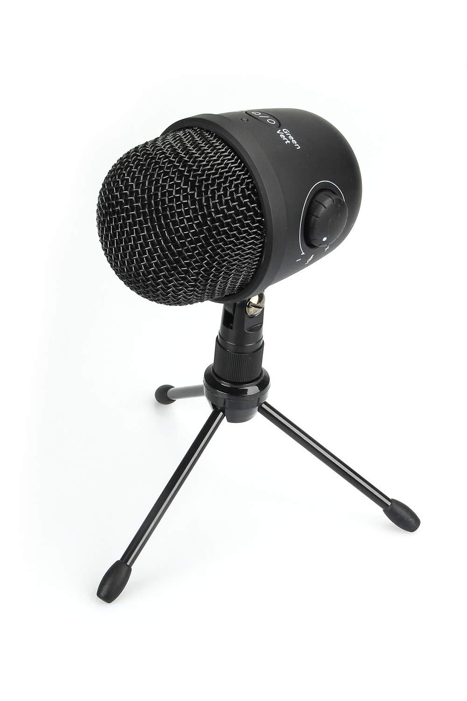 Amazon Basics Desktop Mini Condenser Mic Microphone, Black