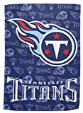 NFL Tennessee Titans Two Sided Glitter Accented Garden Flag, Medium, Multicolored
