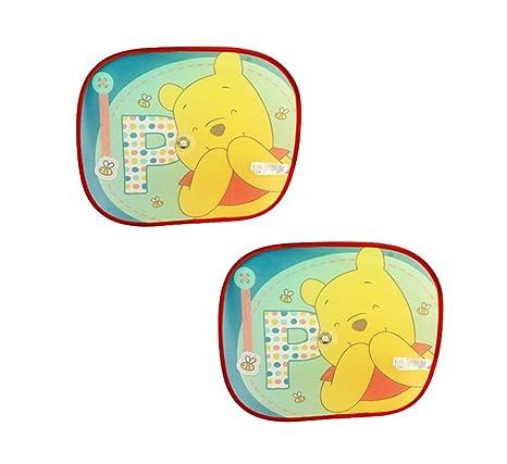 2 parasoles plegables para coche de Winnie The Pooh de Disney