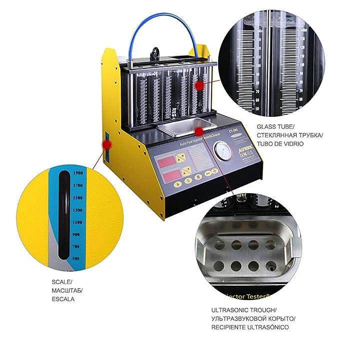 Limpiador y probador de cilindros de inyección Autool.: Amazon.es: Coche y moto