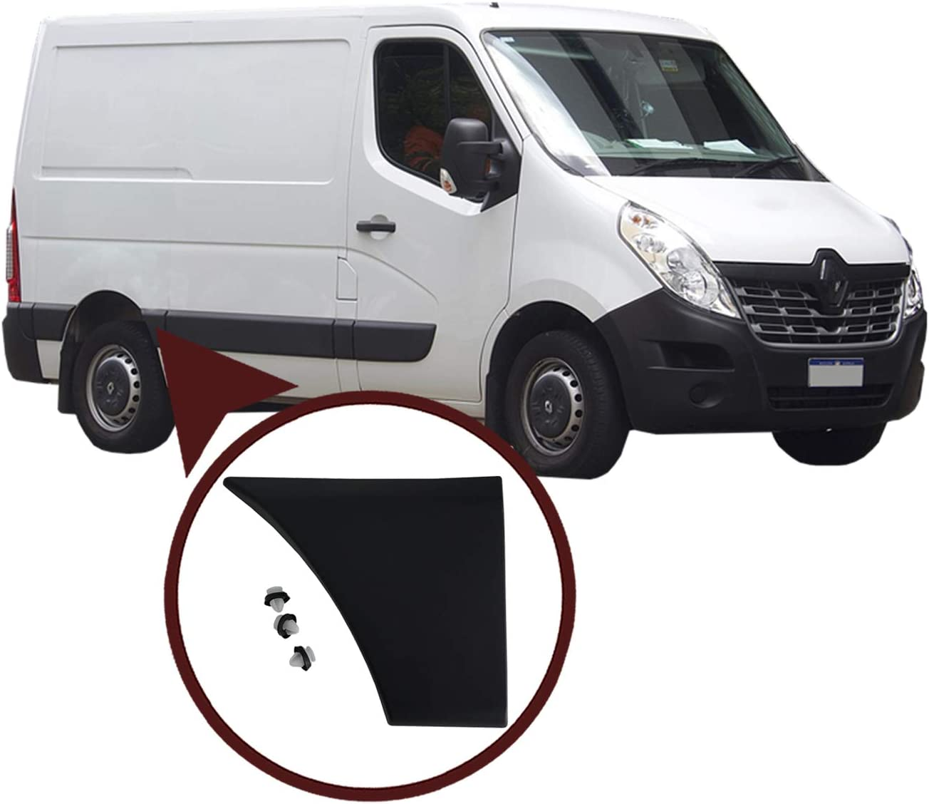 ESC ESP960 Puerta Lateral Moldeo Rub Tira Trasera Derecha 768F30004R para R.e.n.a.u.l.t Master MK3 NV400 Movano