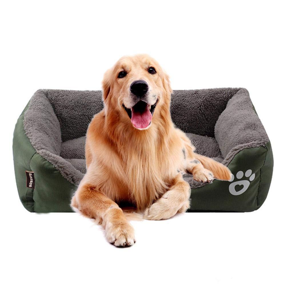 Dark Green XL Dark Green XL KOBWA Orthopedic Dog Bed, Premium Plush Waterproof Dog Cat Beds, Eases Pet Arthritis Pain and Improved Sleep Washable, Warm and Durable