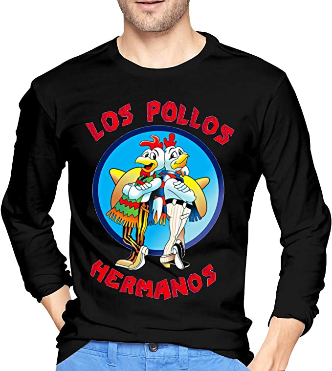 DeATfr Mens Cool Los Pollos Hermanos - Camiseta Larga de Manga Larga, Color Negro Negro S: Amazon.es: Ropa y accesorios