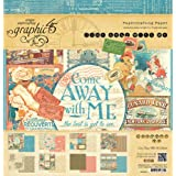 Graphic 45 Come Away with Me Paper Crafting Pad, 12 by 12-Inch