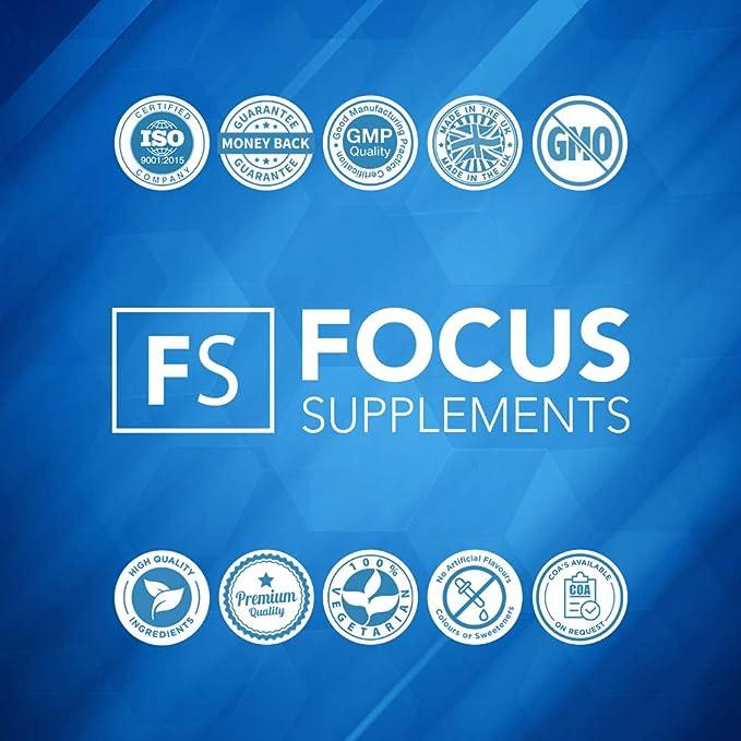 5 HTP Comprimidos 100 mg - Extracto de Griffonia simplicifolia de Focus Supplements | Mejora el ánimo y Ayuda a Perder Peso de Forma Natural | Envasado en ...