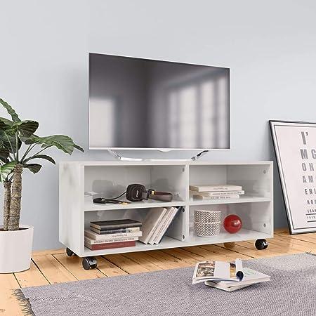 UnfadeMemory Mueble para TV Moderno con Ruedas,Mesa para TV,Mueble ...
