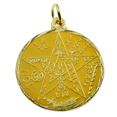 Amazon yellow pentagram pendant tetragrammaton pagan wiccan yellow pentagram pendant tetragrammaton pagan wiccan occult gold tone 23mm medal mozeypictures Gallery