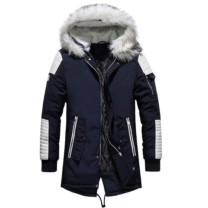 Manga Larga para Hombre Abrigo Largo Grueso Blusa de Camuflaje de Invierno Abrigo Engrosamiento Suéter BaZhaHei
