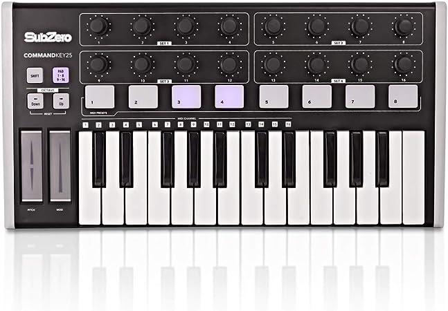 Controlador MIDI Universal SubZero CommandKey25