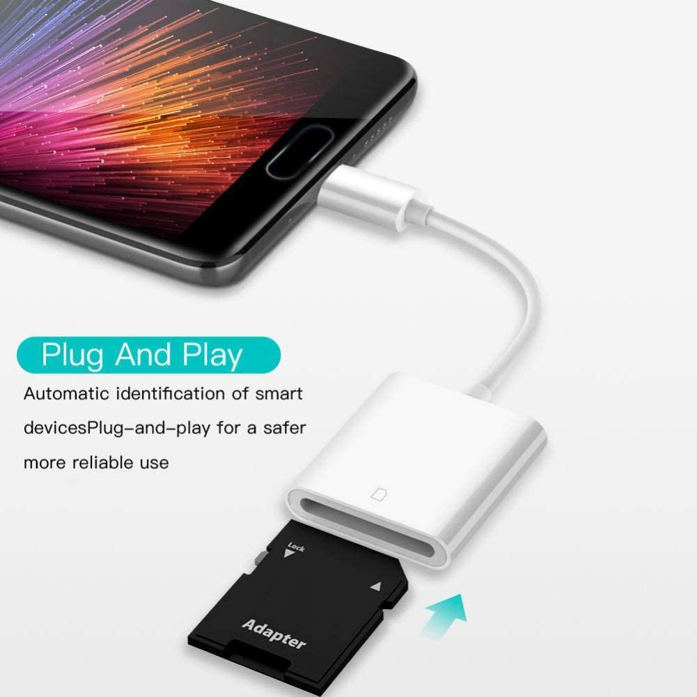 SUHAPPY USB-C Card Reader OTG Type-C Phone Laptop Computer Accessories for Secure Digital Memory Cards