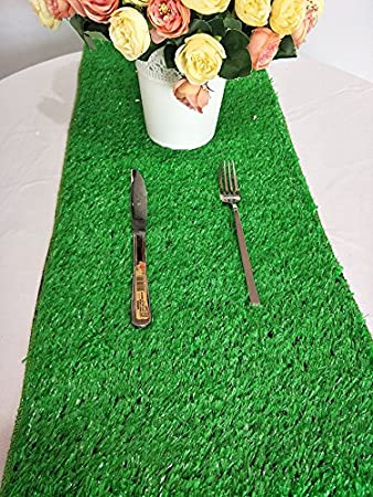 Luchuan Artificial Grass Table Runner For Table Decoration 12 x 108
