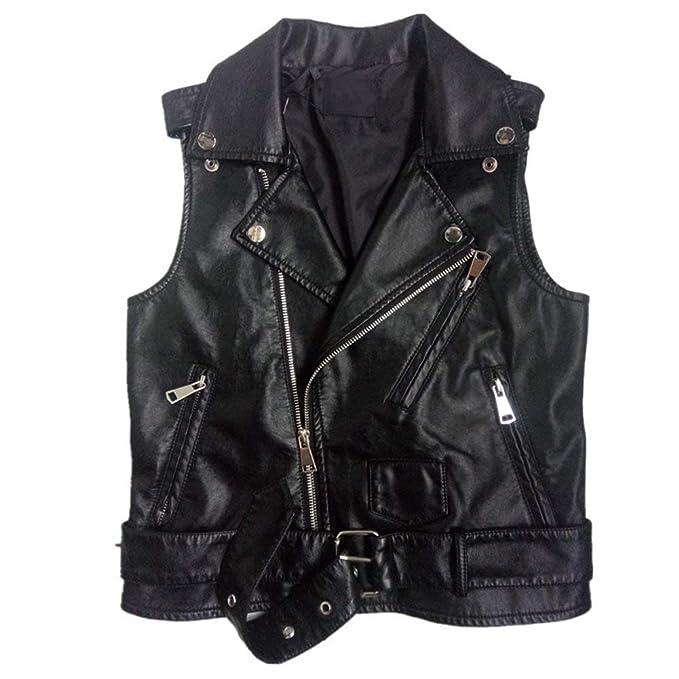Chaleco Cuero Mujer Casuales Biker Vintage Jacket Moda ...