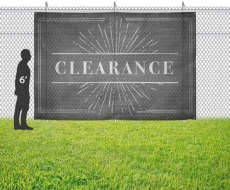 12x8 Chalk Burst Wind-Resistant Outdoor Mesh Vinyl Banner CGSignLab Clearance