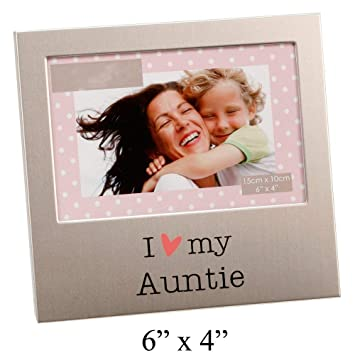 Amazoncom I Love My Auntie Brushed Silver 6 X 4 Picture Frame By
