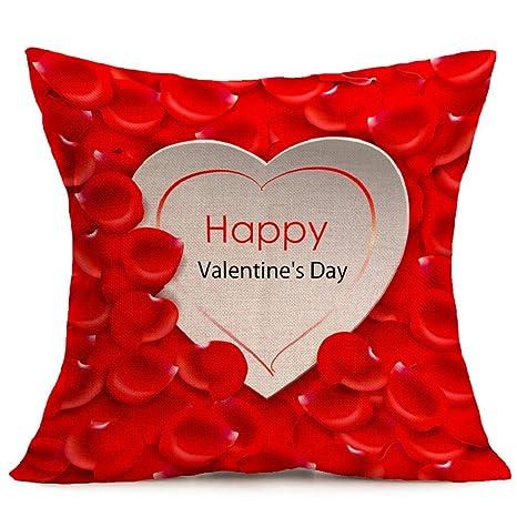 Fundas de Cojines,SHOBDW Regalo de San Valentin Amantes Que ...
