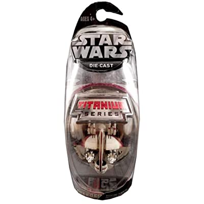 Star Wars Titanium Series Die Cast Metal Swampspeeder with Rotating Turrets: Toys & Games