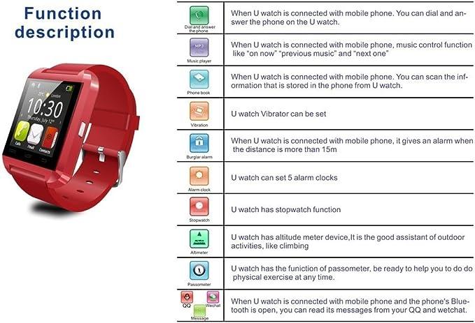 YinoSino U8 Smart Watch / Reloj inteligente U8 / Reloj Bluetooth ...