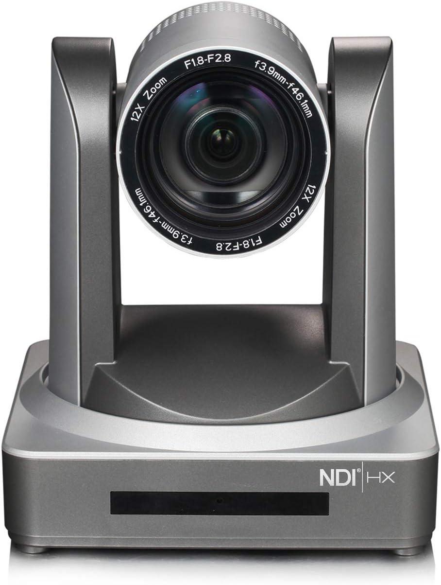 Minrray 20X-NDI Broadcast and Conference Full HD PTZ Camera UV510 for Live Streaming (NDI | HX 4.0) (Silver Gray)