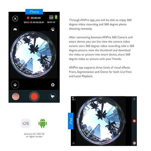 sansnail V1 360 Degree cámara de acción panorámica 2448 * 2448 30 fps ULTRA HD Video impermeable cámaras deportiva 4 K WiFi Deporte cámara Cam conducción VR ...