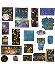 60PCS Foil Gold Scrapbook Stickers, Doraking DIY Decoration Big-Shots Medieval Ages Washi Stickers for Scrapbook Decoration Notebooks Suitcase
