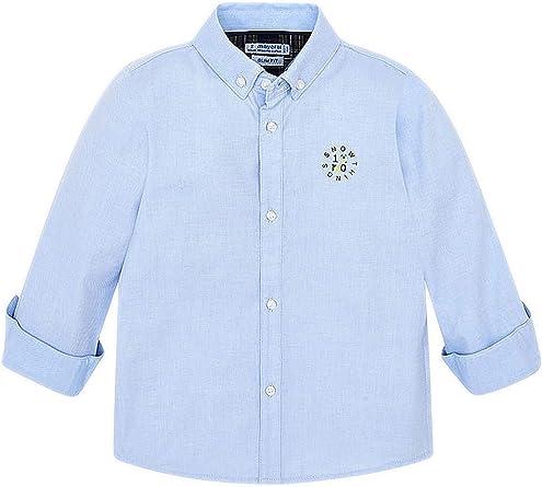 Mayoral, Camisa para niño - 4120, Azul: Amazon.es: Ropa y ...