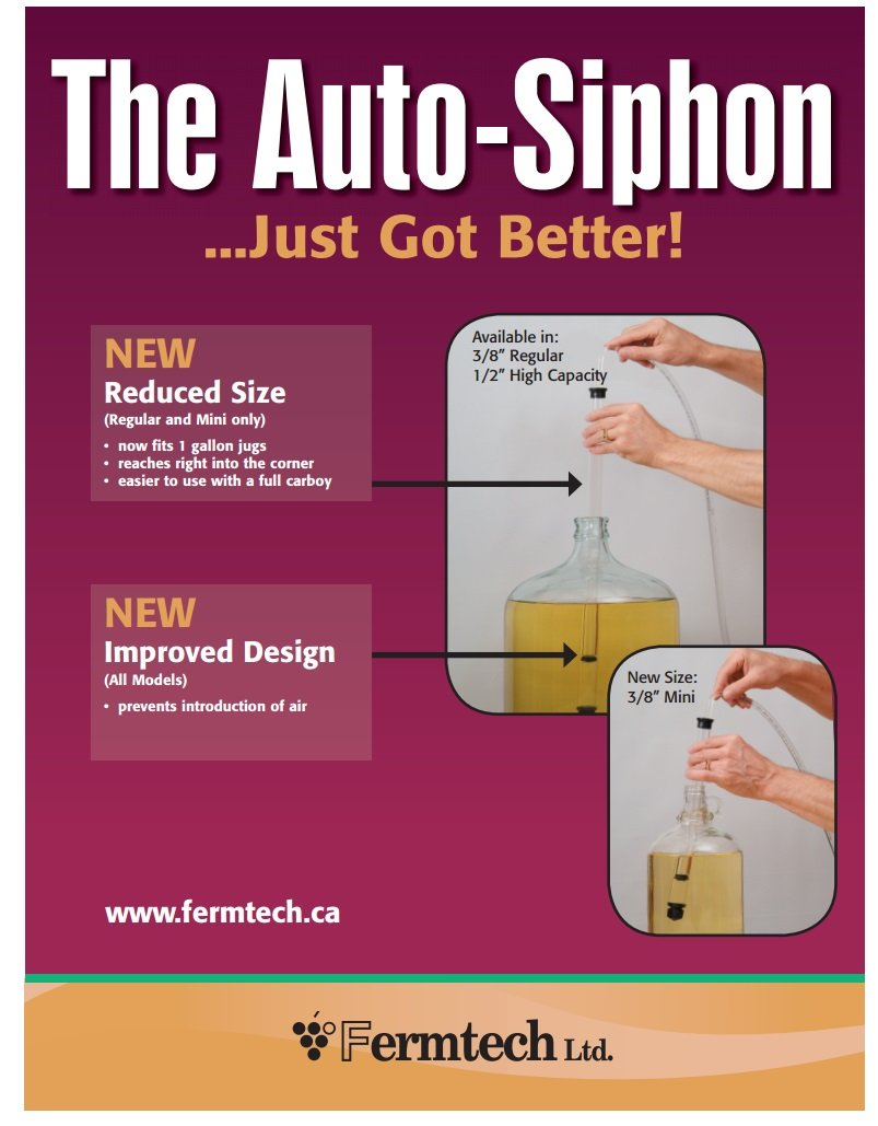 Fermtech 1/2'' Large Deluxe Siphoning Kit, Large Auto - Siphon, Wine Bottle Filler, Clamp and Tubing by Ubrewusa