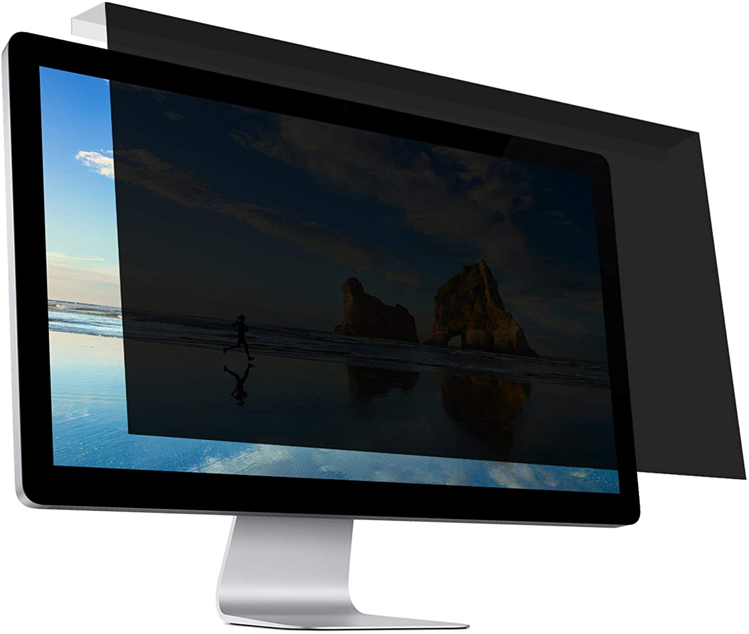 "Hanging Privacy Screen Filter for Widescreen Monitors 23 Inch to 24 Inch (23"",23.6"",23.8"",24"") 16:9/16:10 Aspect Ratio"