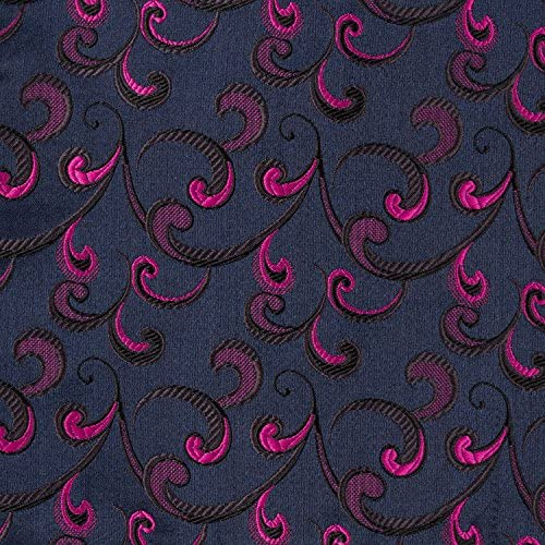 Fuchsia for Tuxedo and Suit BYT Mens Pattern Formal Vest Midnight Navy