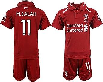 Camiseta de fútbol para niños 2018/19 Liverpool Salah #11 ...