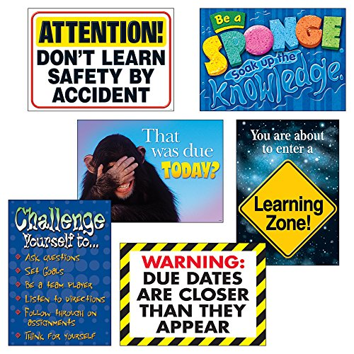 (Argus Learning Zone Posters Combo Pack, 6 pcs. )