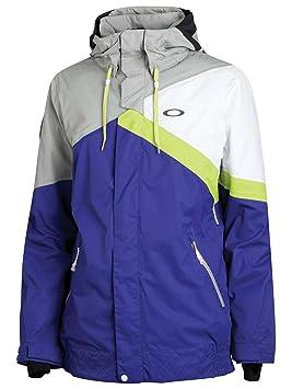 Los hombres chaqueta de snowboard Oakley comprobar la chaqueta aislante, color azul - azul, tamaño S: Amazon.es: Deportes y aire libre
