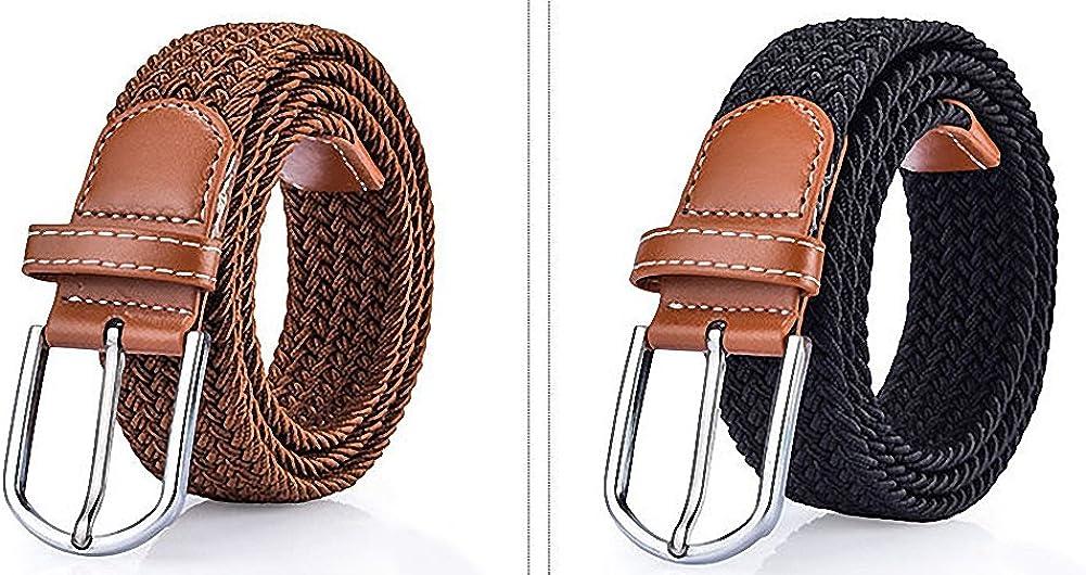 Gespout Cintur/ón Cinturones Almohadillas para Cintur/ón Hombres Mujeres Cintur/ón de Lienzo Estudiante Hipoalerg/énico de Aleaci/ón Hebilla Para Jeans Flexible Senderismo C/ómodo Tejiendo Ajustable Belt