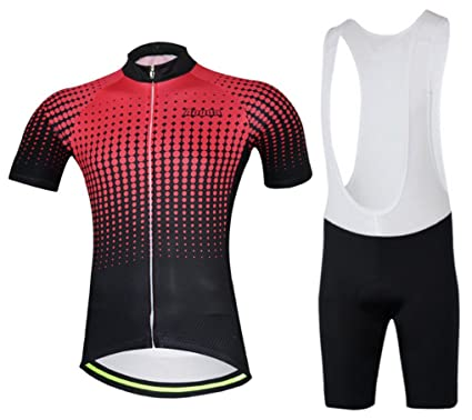 b45989d80 Road Bicycle Racing Clothing Aogda Mens Cycling Jersey Short Sleeve Shirt  Bib Shorts Sportwear Set D309