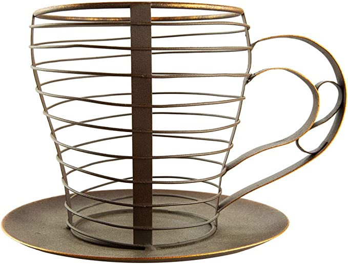 Coffee Station Organizer for Pods and KCups and Wire Coffee Bar Holder