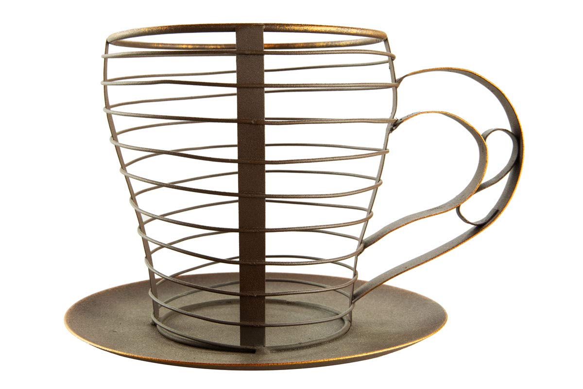 Coffee Station Organizer for Pods and KCups and Wire Coffee Bar Holder by Thirteen Chefs