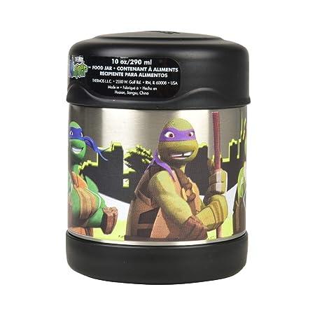 Thermos Funtainer - frascos de alimentos de 295 ml, acero inoxidable, Tortugas Ninja, 280 g
