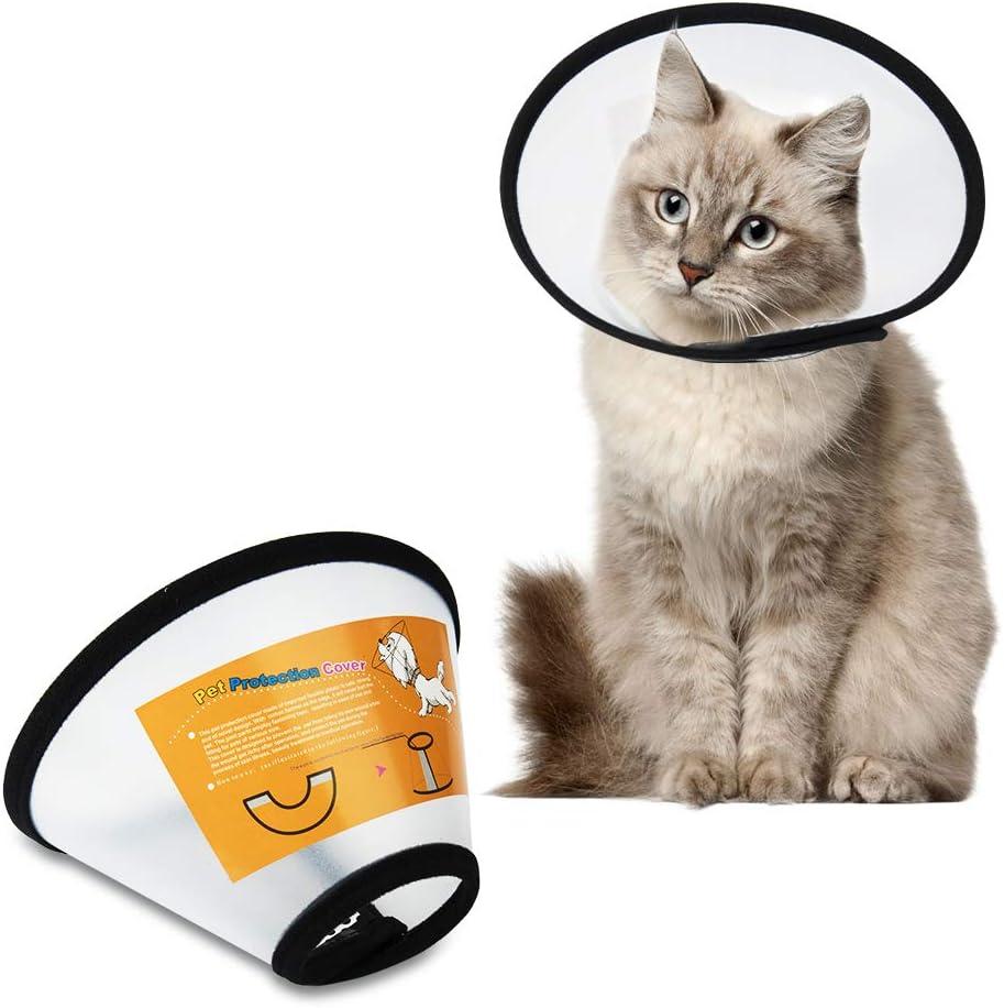 SenPuSi Collar para Mascotas Mascotas Plástico Cuello elisabetánico Cuello Protector Cono de plástico Protección Especial para Gatos Pequeños Perros y Conejos