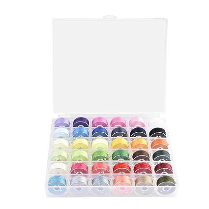Hilo de coser y bobinas juego de maletín con organizador Bobina de almacenamiento, varios colores
