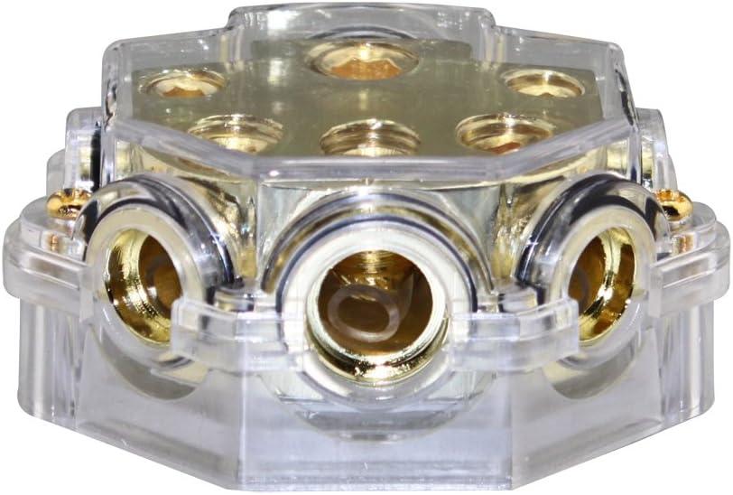 0//1 Gauge to 8X2 4X2 2X1 Gauge Power//Ground Distribution Block PD-02