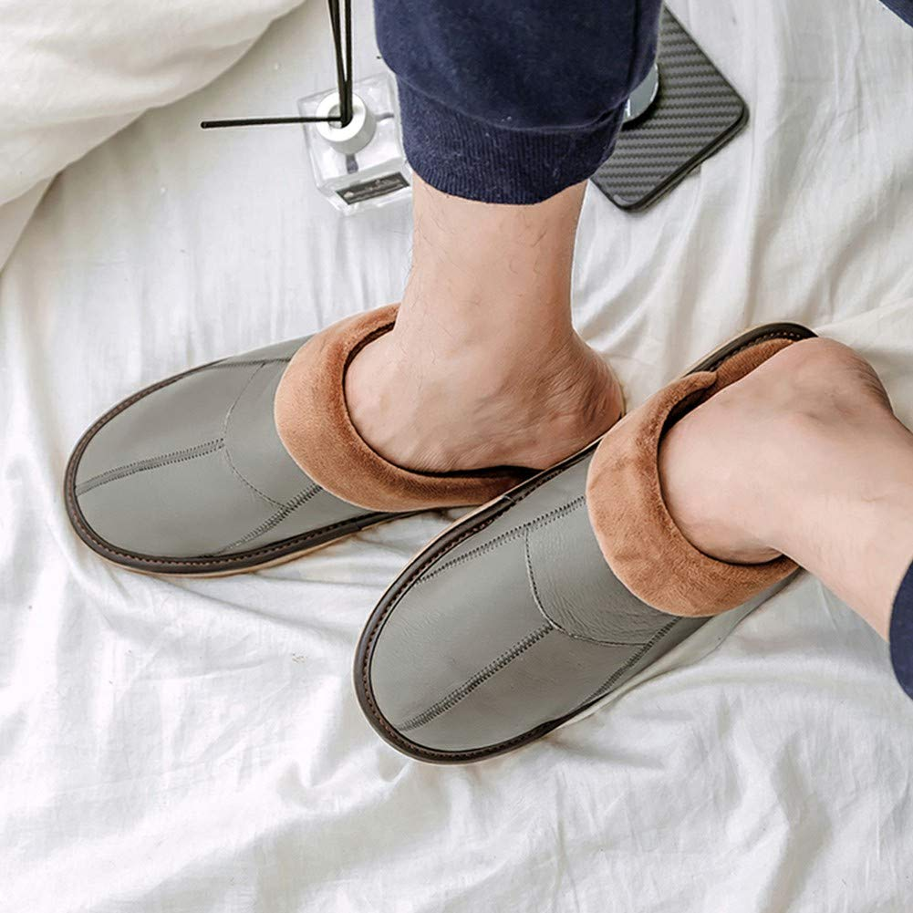 Vimisaoi Soft Bottom Rubber Soles Slippers Non-Slip Lovers Cotton Indoor Shoes