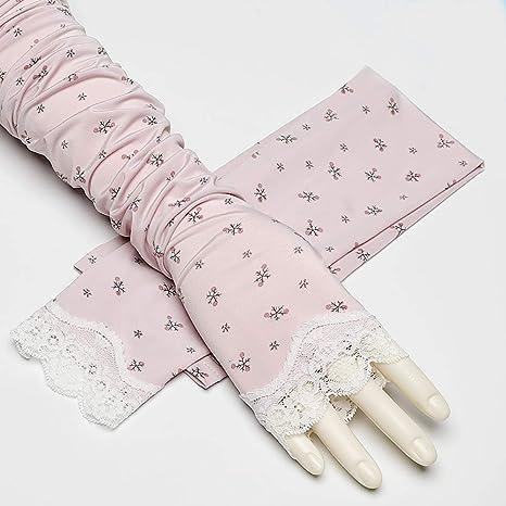 SVNA Guantes sin Dedos Largos de algodón de protección UV para Mujer,Purple: Amazon.es: Deportes y aire libre