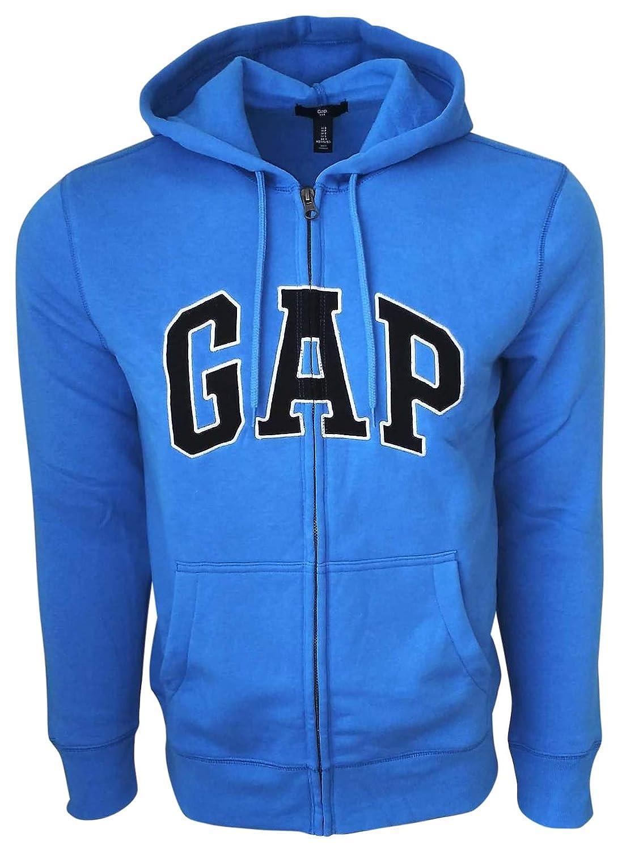 daac1a58 GAP Mens Fleece Arch Logo Zip Up Hoodie at Amazon Men's Clothing store:
