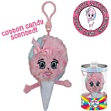 Whiffer Sniffers Katie Cotton Candy Scented Plush Backpack Clip