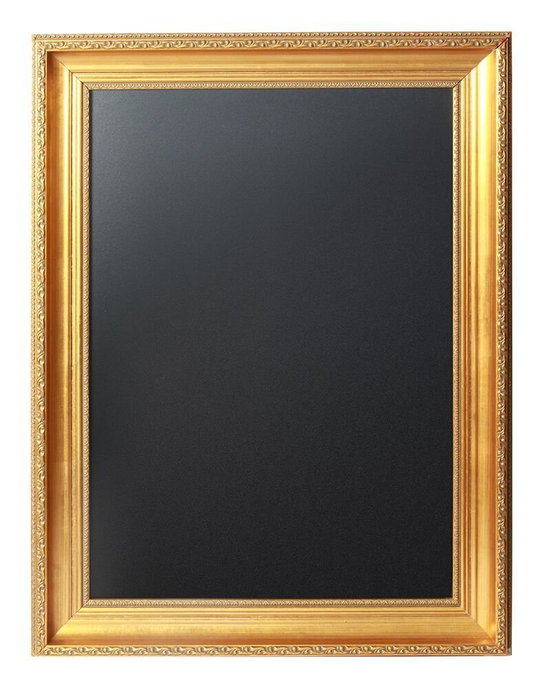 Scribble Classical Gold Framed Chalk Board 25 x 33 Inches