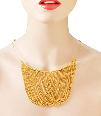 Vintage Style Jewelry, Retro Jewelry Forum Novelties Gold Chain Disco Necklace $8.52 AT vintagedancer.com